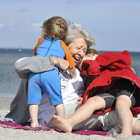 Making a Will - Grandmother and Grandchildren